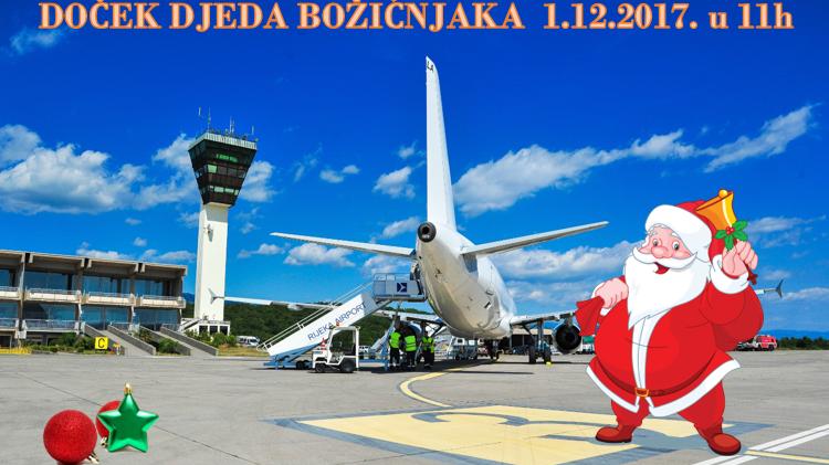 Djed Božićnjak dolazi na Zračnu luku Rijeka