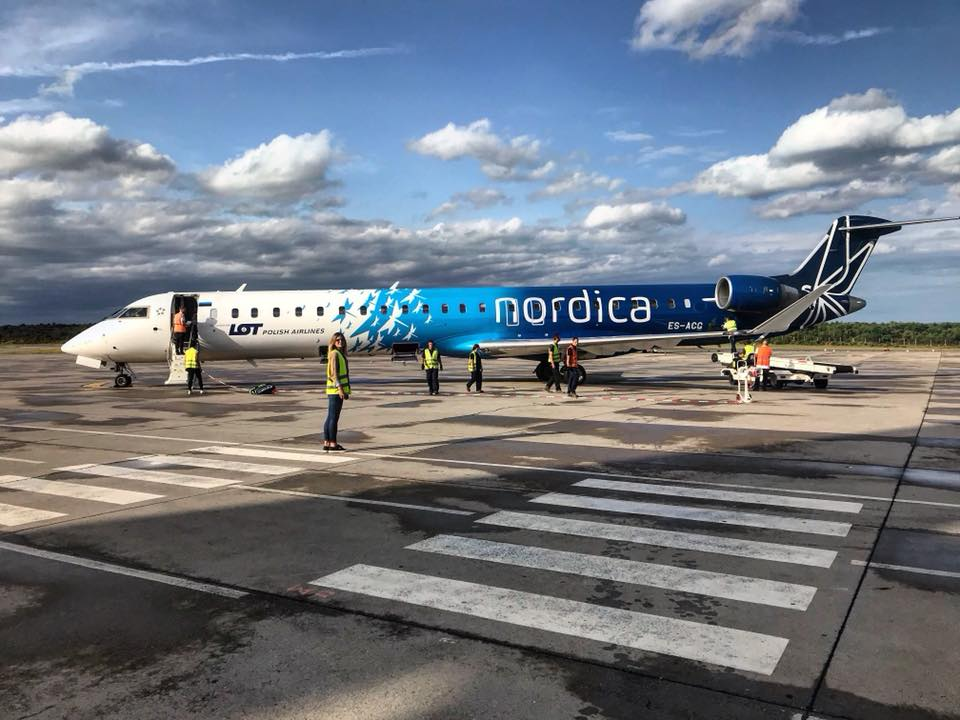 Dočekan prvi ovogodišnji let iz Tallinna