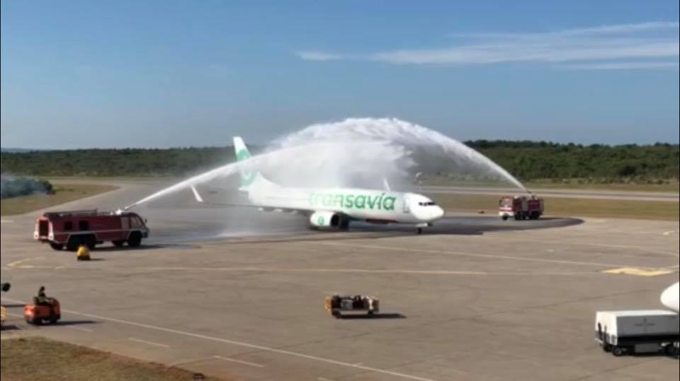 Svečano dočekan prvi let Transavie iz Eindhovena!