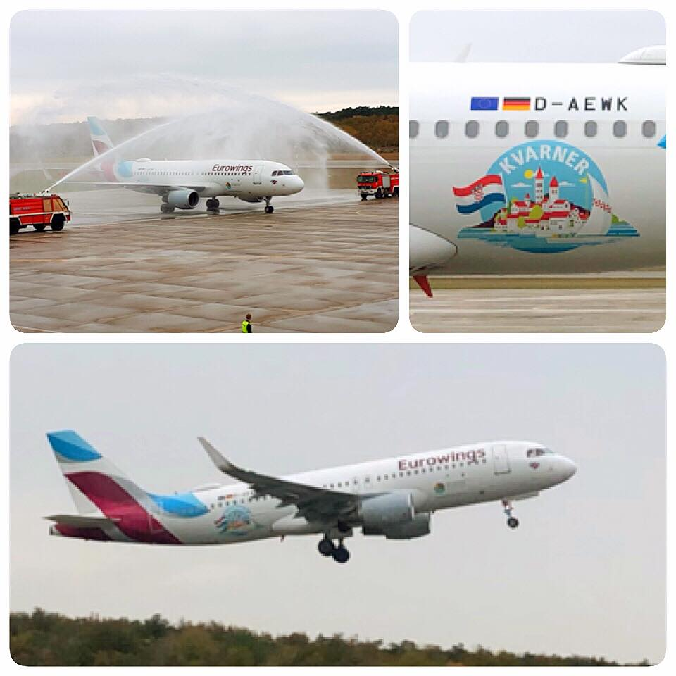Eurowings aircraft painted in Kvarner colours!