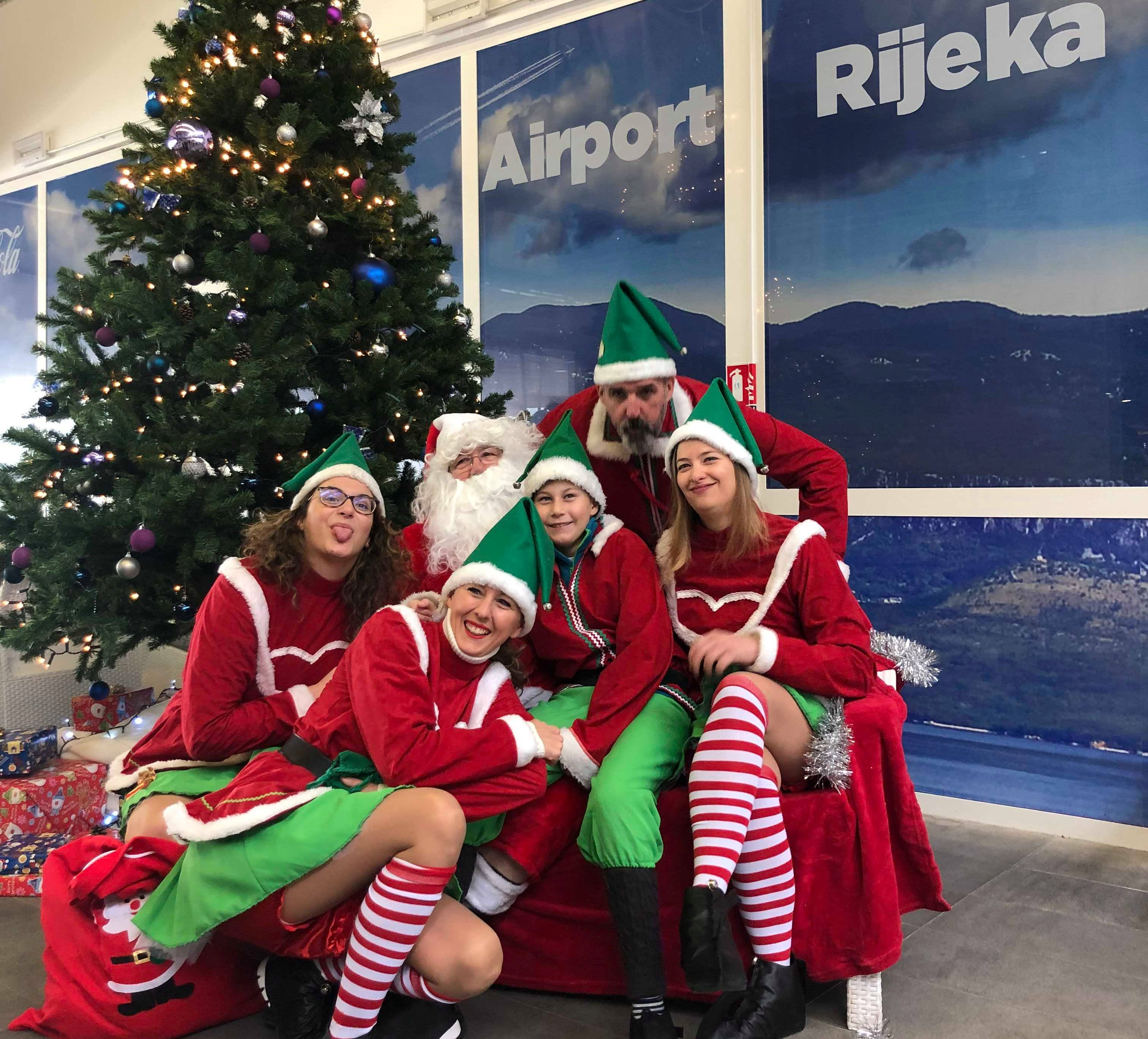 Santa Claus landed at Rijeka Airport