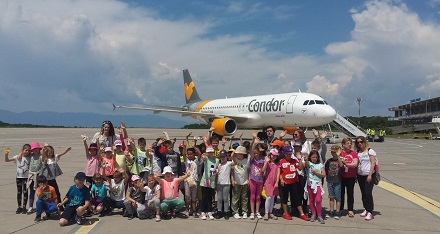 Rijeka airport visited by over 1.000 kids in 2017